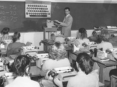 1959-Typing Class Los Angeles