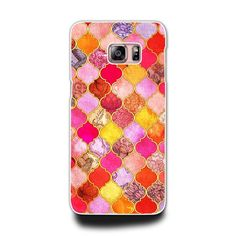 Samsung Galaxy A 3 5 7 Note 3 4 5 S3 S4 S5 S6  Phone Hard Case (Pink Moroccan…