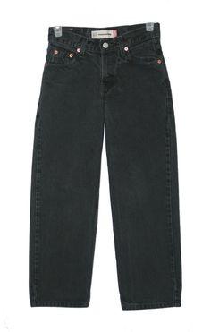 f790356ec Levis 550 Boys Black Relaxed Fit Straight Leg Jeans Size 10 Regular 25 x 24  #