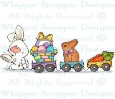 Bunny Train - Easter - Holidays - Rubber Stamps - Shop
