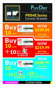 PRIME Series Ceramic Brackets