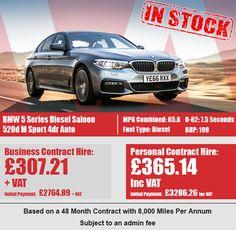 BMW 5 Series Diesel Saloon 520d M Sport 4dr Auto Bmw 5 Series, Diesel, September, Business, Car, Sports, Diesel Fuel, Hs Sports, Automobile
