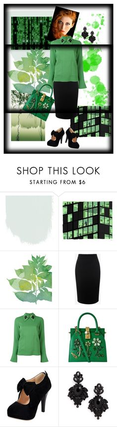 """green art"" by silver-sun on Polyvore featuring Alexander McQueen, N°21, Dolce&Gabbana and Tasha"