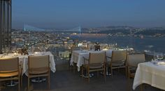 Vogue Restaurant, Istanbul, Turkey. Amazing views, great food and wine and an inviting interior.