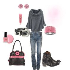 Grey & Pink.., created by sherrymoore