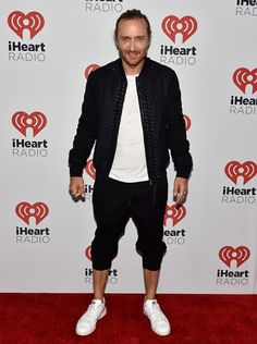David Guetta sports Lanvin Bomber Jacket and Stan Smith Adidas Originals Sneakers during iHeartRadio Music Festival in Las Vegas #davidguetta #lanvin #bomberjacket #stansmith #adidasioriginals #iheartradio #iheartradiomusicfestival2015 #lasvegas