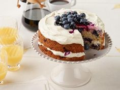Get Wake and Cake Blueberry Breakfast Cake Recipe from Food Network
