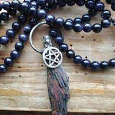 Besom, besom mala, besom power beads, pagan prayer beads, pagan mala, witch prayer beads, witch mala, priestess prayer beads, priestess mala by MagickAlive on Etsy