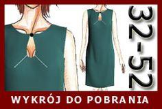 Gotowy wykrój - sukienka z łezką