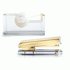 Russell and Hazel Acrylic Stapler and Tape Dispenser Set