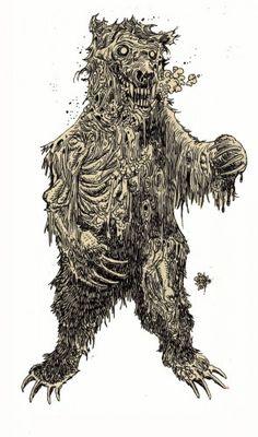 zombie art bear