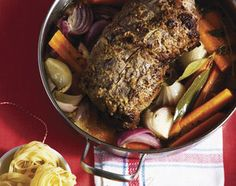 Tösstaler Schweinsbraten - Rezeptdatenbank - Swissmilk Recipe Images, Steak, Pork, Cooking, Recipes, Browning, Apple Wine, Pigs, Food Food
