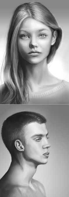 HOW-TO PAINT FACES IN PHOTOSHOP. Final product image