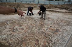 1,700-Year-Old Roman Mosaic Discovered During City Sewer Construction Project   My Modern Met