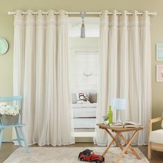 These elegant and sophisticated lace overlay blackout curtains are a luxurious addition to your home decor. Blackout lining features an innovative triple weaved fabric for thermal insulated blackout curtains.