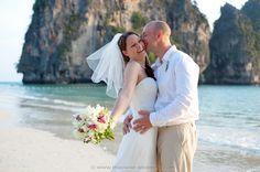 Railay Beach Wedding Package : Hannah + Richard | Thai Marriage Planner Beach Wedding Packages, Railay Beach, Thailand Wedding, Event Organiser, Wedding Ceremony, Destination Wedding, Marriage, Couple Photos, Wedding Dresses