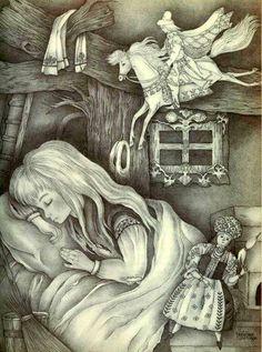 Vassilissa e la Baba Jaga, di © Adrienne Segur Colouring Pages, Coloring Books, Ivan Bilibin, Cinderella, Baba Yaga, Witch Art, Gif Animé, Children's Book Illustration, Conte