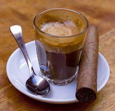 cigar & espresso...pure luxury.<3                                                                                                                                                      More