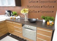 Coffee Kitchen Quote Vinyl Wall Decal by WallStickersDecals, $15.99
