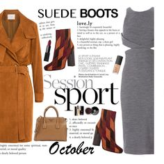 A fashion look from October 2015 featuring Cushnie Et Ochs dresses, IRO coats and Prada ankle booties. Browse and shop related looks.