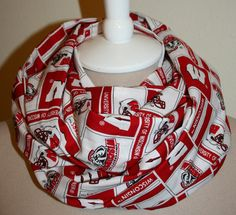 Infinity Scarf Wisconsin Badgers College by SewPriorAttireMitten, $18.00