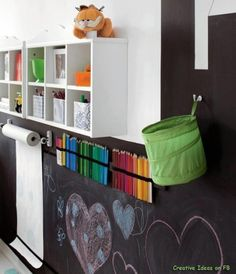 Organized Chalk Wall