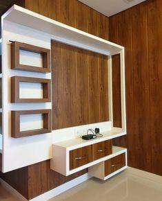 #woodworkingidea Modern Tv Unit Designs, Modern Tv Wall Units, Living Room Tv Unit Designs, Bedroom Tv Unit Design, Tv Unit Interior Design, Tv Unit Furniture Design, Bedroom Furniture Design, Interior Decorating, Living Room Partition Design
