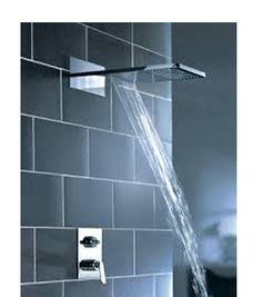 Artos Kascade Dual Shower Head - Rain Head or Waterfall Waterfall Shower, Waterfall Faucet, Tub And Shower Faucets, Bathroom Sink Faucets, Bathrooms, Rain Shower, Shower Tub, Brushed Nickel Shower Head, Dual Shower Heads