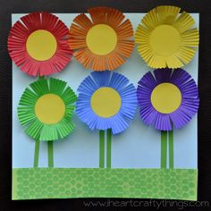 I HEART CRAFTY THINGS: Planting a Rainbow Flower Craft