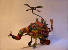 gérard collas -sculpteur-assemblages -sculpture-art singulier-elephant