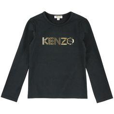 Kenzo Kids Tee-shirt en jersey coton Noir