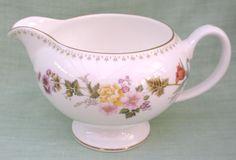 Wedgwood Mirabelle bone china Leigh shape cream / milk jug - #R4537
