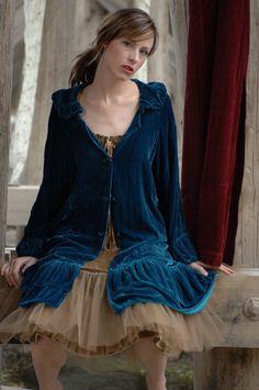 Velvet Princess coat from Marrika Nakk.