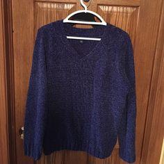 Dark Sweater Dark sweater, navy, purple, deep colored, see photos. Never worn, got for Christmas. Sweaters Crew & Scoop Necks
