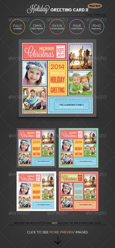 Stitched Love Holiday Greeting Photo Collage Card — Photoshop PSD #holiday #collage • Available here → https://graphicriver.net/item/stitched-love-holiday-greeting-photo-collage-card/5438631?ref=pxcr