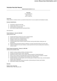 Volunteer Work In Resume That Stand Out  Pinterest  Resume Template Free Template And .