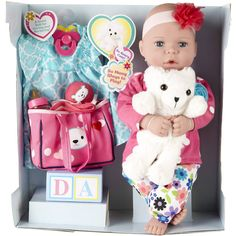 Baby Dolls For Kids, Baby Kids, Bear Toy, Teddy Bear, Baby Alive Dolls, Soft Dolls, Imaginative Play, Love Is Sweet, Bedtime