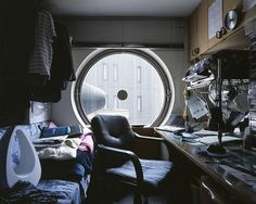 Japanese futuristic micro apartment