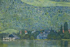 Gustav Klimt - Lake Attersee / Litzlberg am Attersee 1914