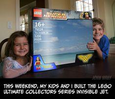 Une famille construit le jet invisible de #WonderWoman en #Lego