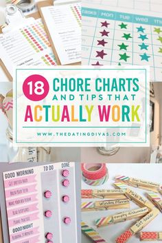 These chore charts and organization tips are going to be a life saver! The Dating Divas really hit this one out of the park!