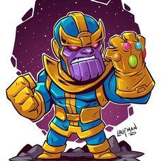 Thanos, The Avengers, Thor, Marvel, Gems, Jewels, Villain, Super Villain, Cartoons, Drawing, Sketches, Doodles, Comics, Comic Con, Mini Villain, Super Villain,