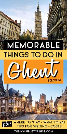 European Travel Tips, Travel Tips For Europe, Backpacking Europe, Best Places To Travel, Cool Places To Visit, Europe Destinations, Ghent Belgium, Visit Belgium, Ukraine
