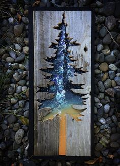 Faith is a self-taught mixed media painter who layers reclaimed wood with watercolor and acrylics to capture the details & spirit of the Pacific Northwest art diy art easy art ideas art painted art projects Metal Tree Wall Art, Diy Wall Art, Wood Wall Art, Diy Art, Metal Art, Wood Burning Crafts, Wood Burning Art, Wood Crafts, Diy Wood