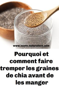 Pourquoi et comment faire tremper les graines de chia avant de les manger Chia Fresca, Nutrition, Food, Weight Loss Tips, How To Make, Stuff Stuff, Almond Milk, Drink, Kitchens