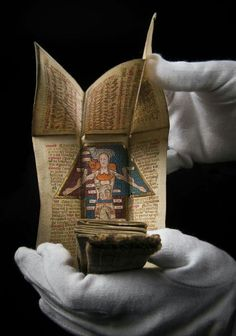 15th century English portable medical book via Medieval Medicine on Facebook