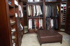 We keep all our shoes in the front closet. Once the doors are expanded we can add shoe shelves from top to bottom to hold ALL the shoes and then maybe double bars like this for all our coats. Plus a couple baskets or drawers for our hats, scarves and gloves.