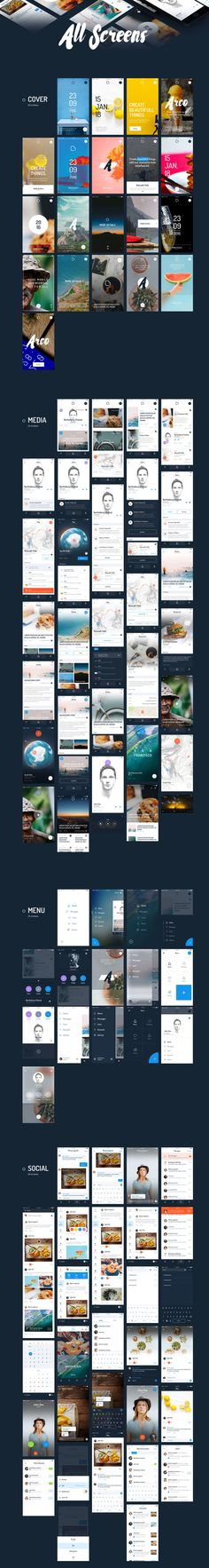 Create beautiful things with our awesome User Interface kit. It comes with 200 unique screens. Arco is a modern, clean and minimalistic UI Kit to upgrade your projects with over 800 elements to choose. Everything was made with a detail oriented style and