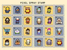 II Overwatch II Pixel characters by AndiPark.deviantart.com on @DeviantArt   #stamp #overwatch #tracer #bastion #tornjorn #mei #reaper #pachimari #hanzo #roadhog #junkrat #post #postdards