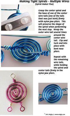 Making spirals in jewelry wire jewelry making